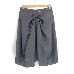 Chloe´ Black Lined Cotton Knee Length Bow Detail